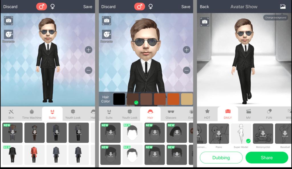 Myidol - приложение для создания 3D-селфи