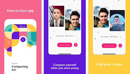 Приложение Face to Face для поиска двойников